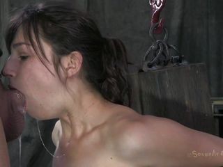 cock fills her throat