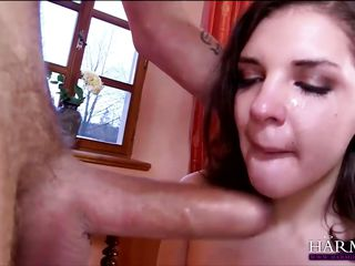 natural brunette beauty filled with cock
