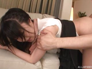 arisa's hairy pussy is dripping wet for you